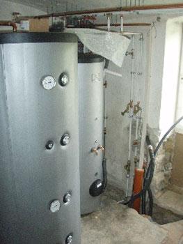 Holzvergaserheizung Tank